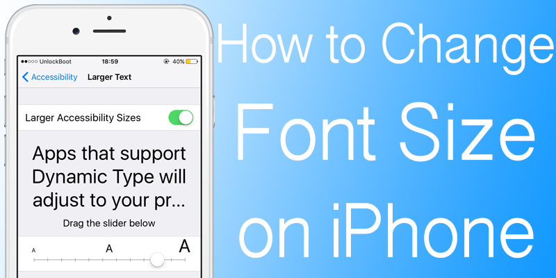 how to adjust font size on my ipad