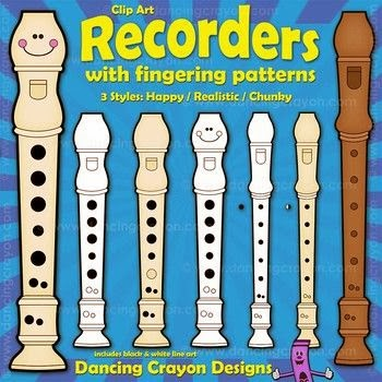 http://www.teacherspayteachers.com/Product/Recorders-Clip-Art-Recorders-with-Fingerings-1045748