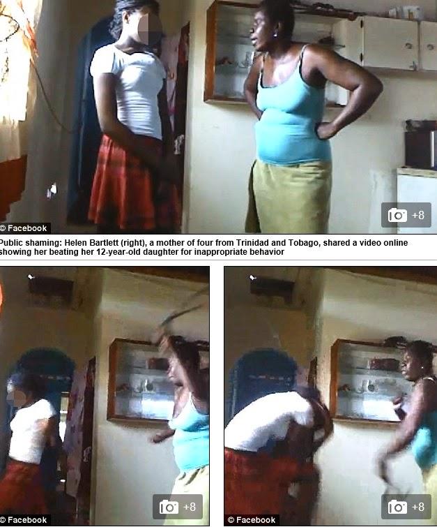 Sobre el video de la madre que le pega a su hija por subir fotos semidesnuda a Facebook