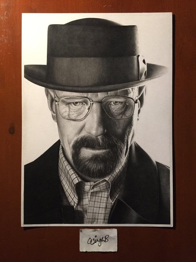 08-Breaking-Bad-Heisenberg-Gurekbal-Bhachu-Realistic-Celebrity-Portraits-Drawings