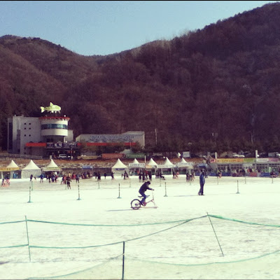 Extreme sports at The Hwacheon Ice Festival in Korea | Lindsay Eryn