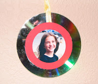 Personalized photo cd ornament