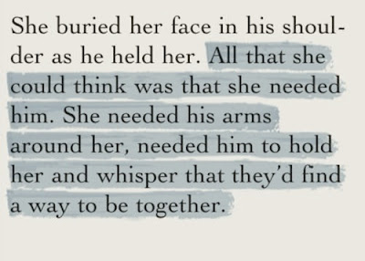 she buried her face in his shoulder as he held her
