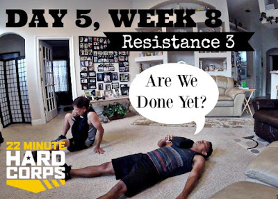 Day 4 and 5 Week Eight 22 Minute Hard Corps Challenge, Get Shakeology Samples, Resistance 3 Workout, Start a Beachbody Challenge, Start a Fitness Journey