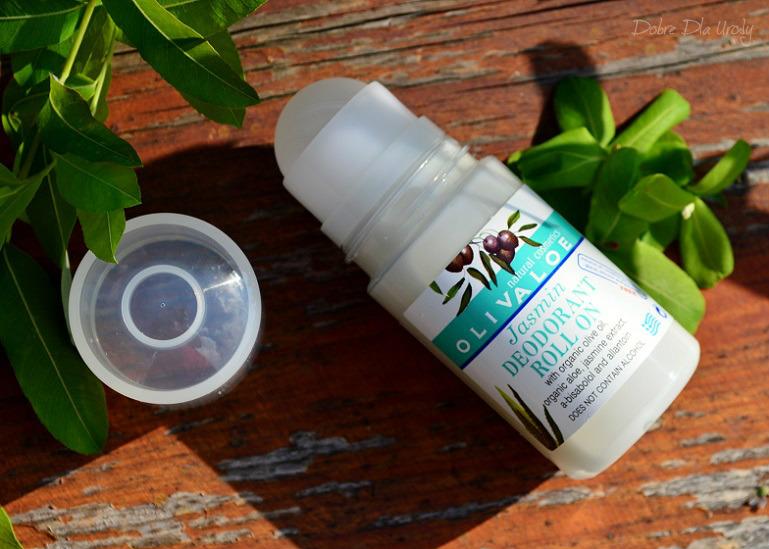 Naturalne greckie kosmetyki dezodorant roll-on OlivaAloe