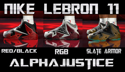 NBA 2K13 Nike LeBron 11 (3 Versions) Mod