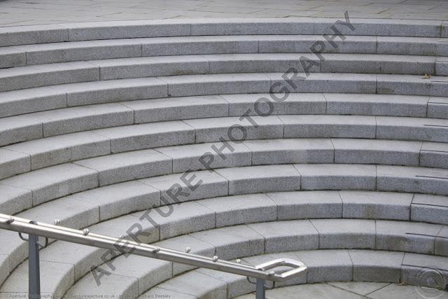 Semi-circular steps, taken in London