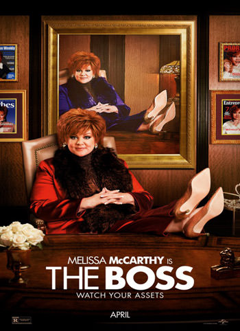 The Boss (2016) Dual Audio Hindi 350MB BluRay 480p ESubs