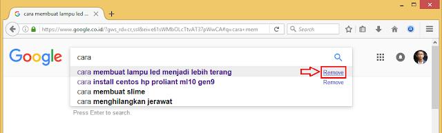 Menghapus Riwayat Pencarian Baru Saja di Google