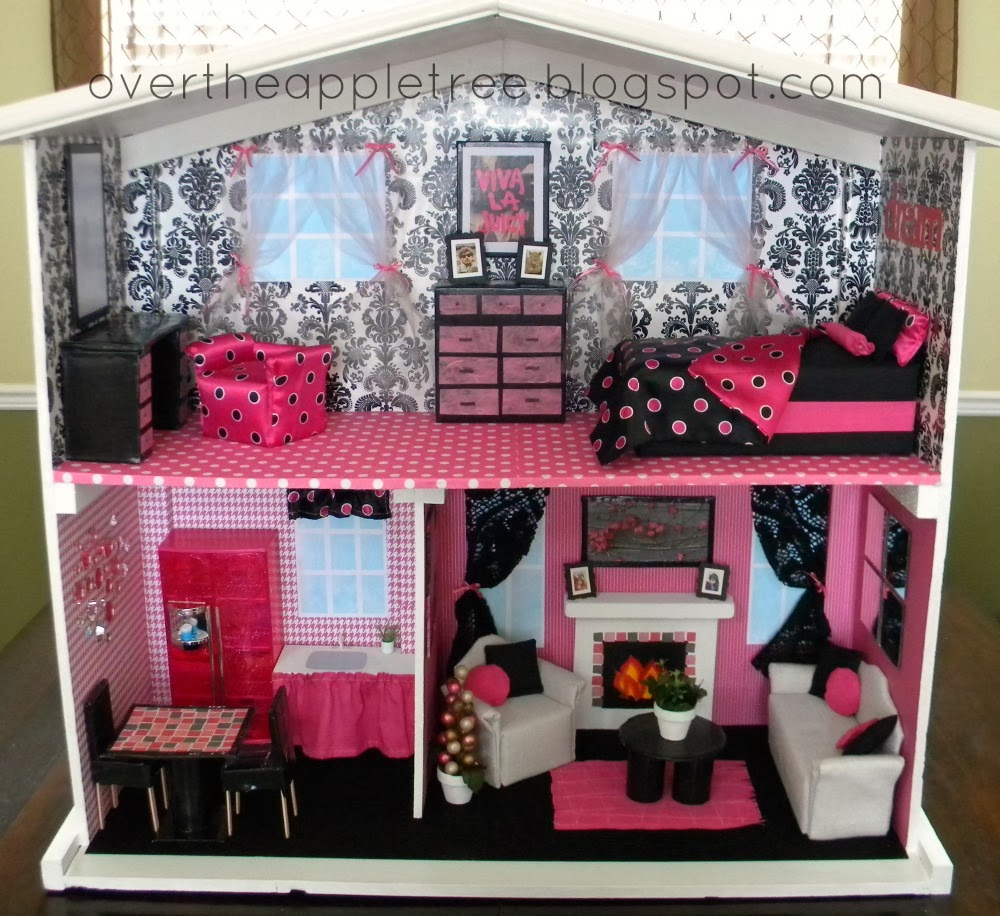 DIY Barbie House by Over The Apple Tree