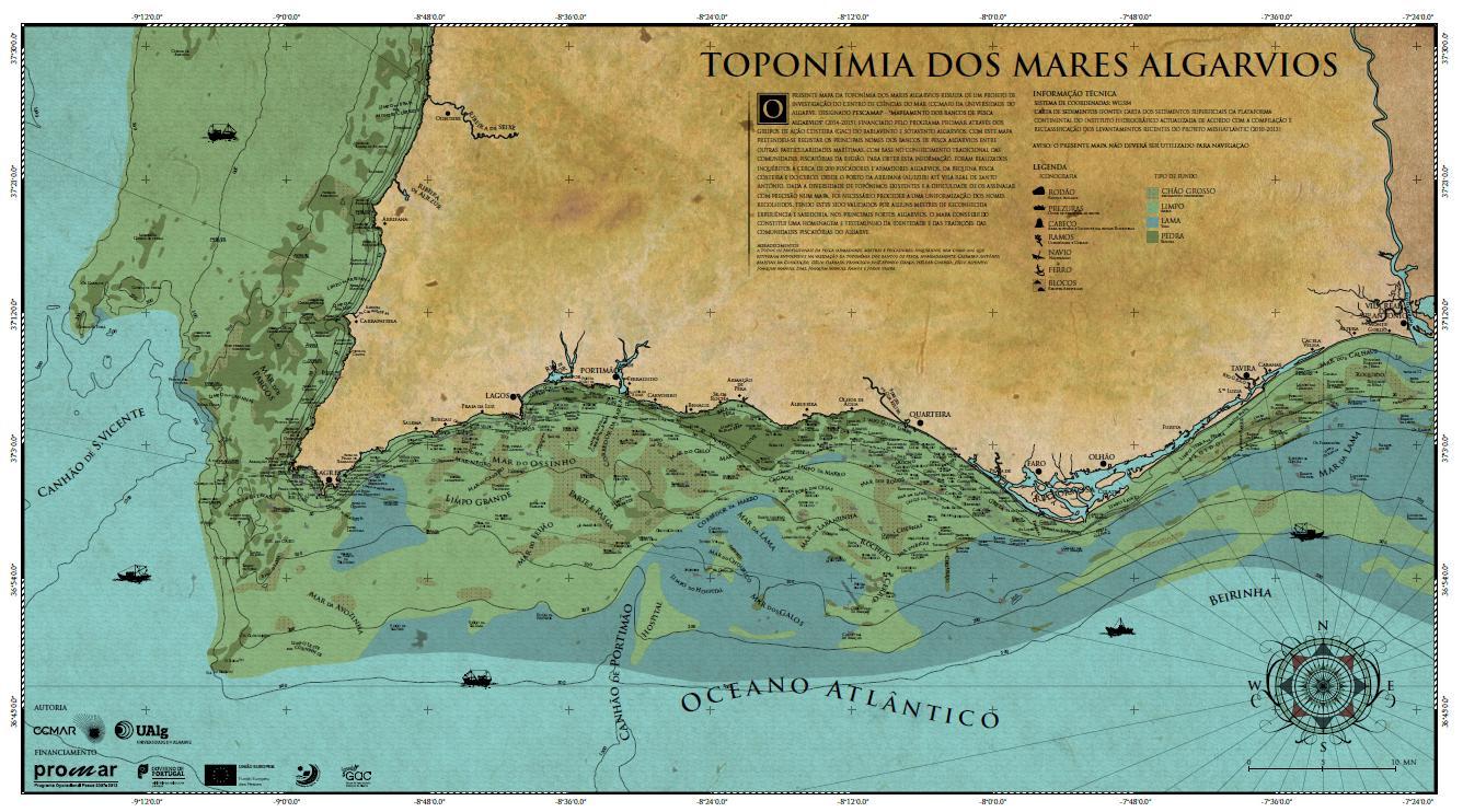 Vila Do Bispo Arqueologia Mapa Da Toponimia Dos Mares Algarvios