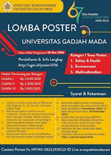 Lomba Poster 2016 di UGM