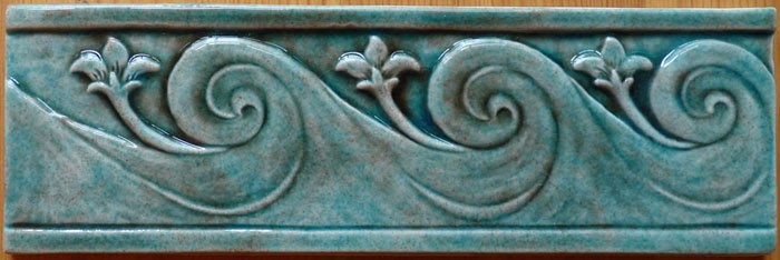 Decorative Handmade Ceramic Tile Decorative Relief
