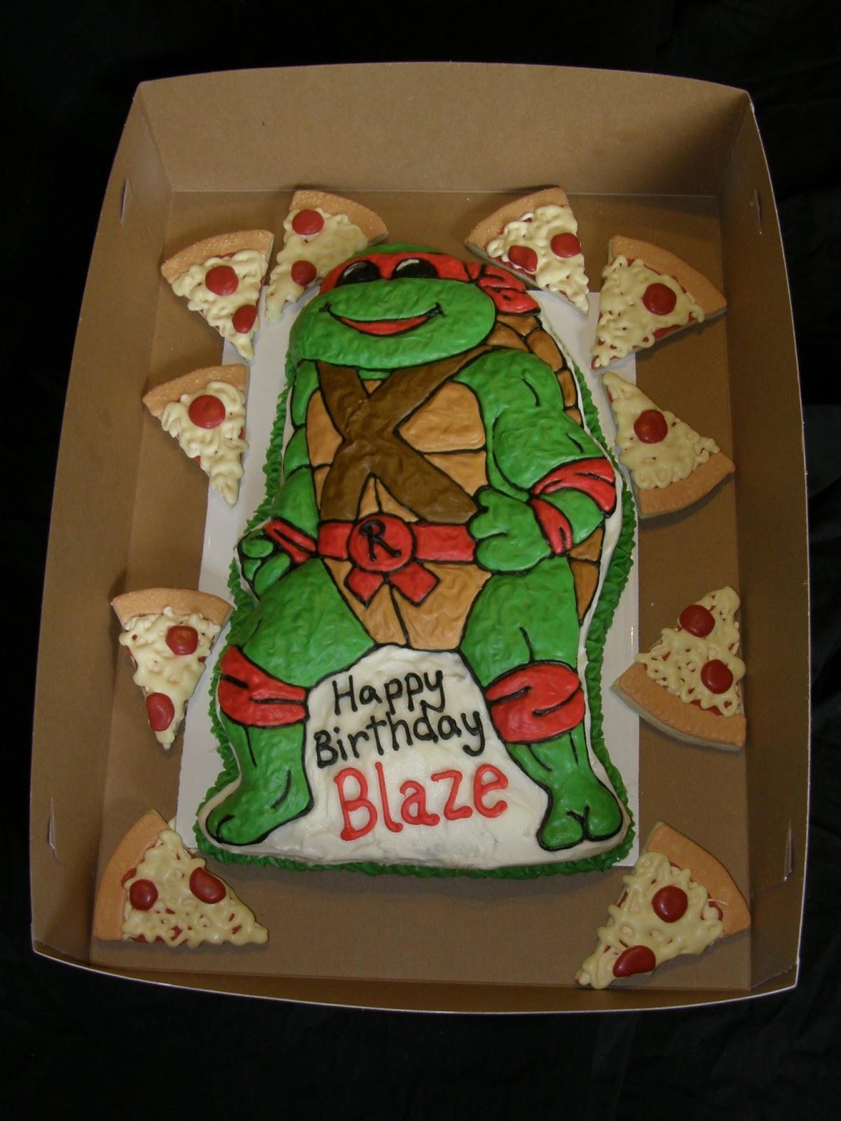 Mrs Lydias Kitchen TMNT Birthday Cake