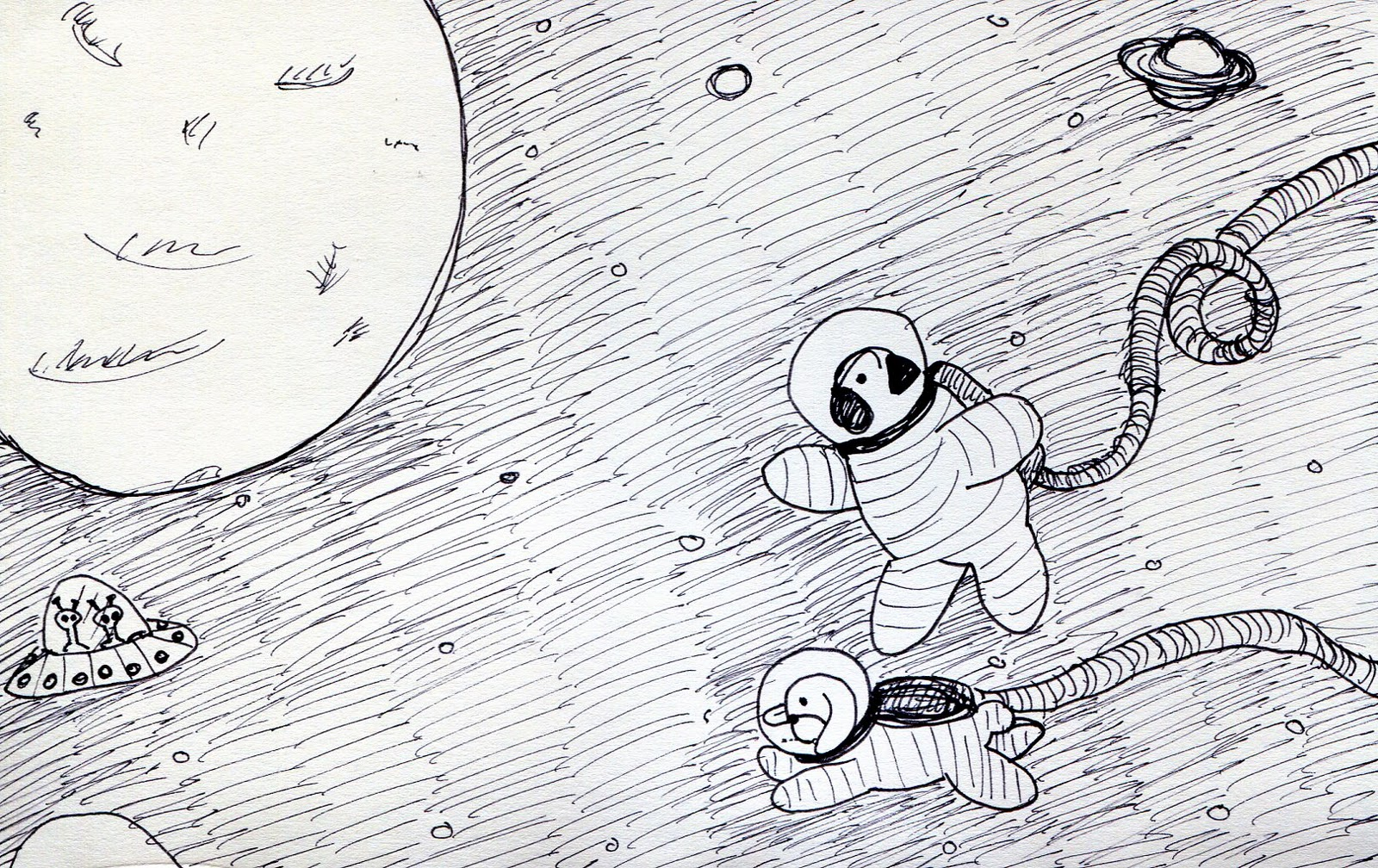 space planets pencil drawing - photo #24
