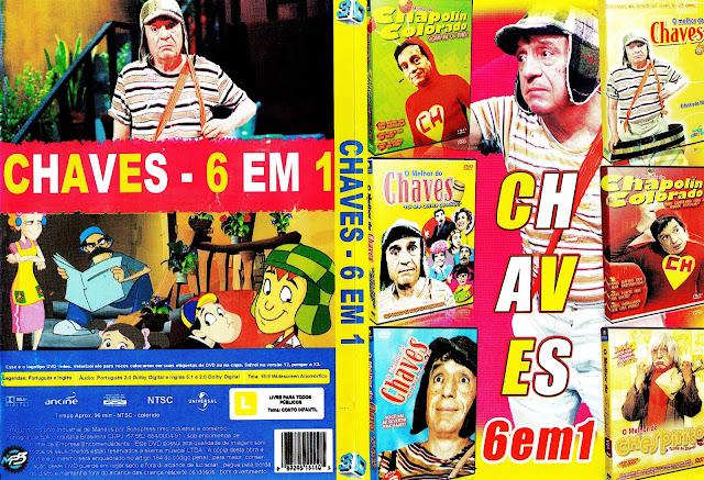 Capa DVD Chaves 6 em 1