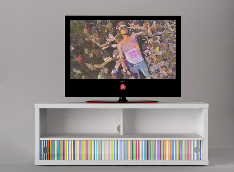 digitally printed media console