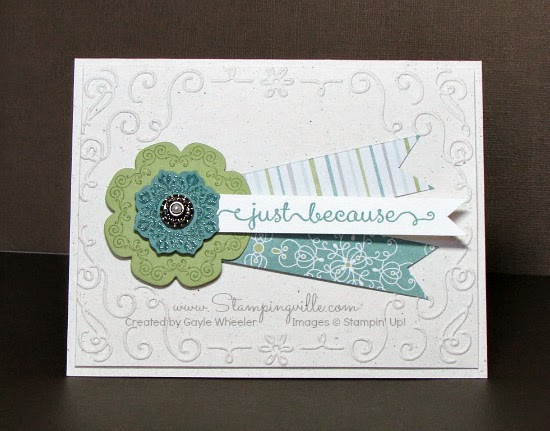 All occasion card embossed two ways | Stampingville #cardmaking #papercrafts #StampinUp