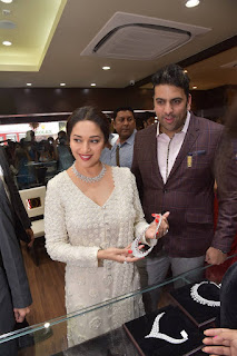 Actress Madhuri Dixit Pictures in Designer White Salwar Kameez at PNG Jewelers Launch  0002.jpg