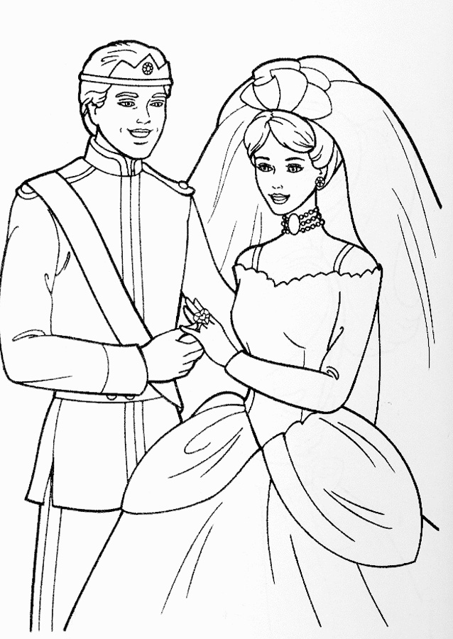 Barbie Ken Coloring Pages