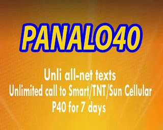 TNT P40 – 40 Pesos 7 Days Unli Text to All Networks + Unli Tri-net Call