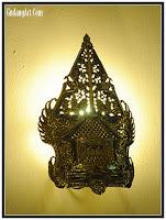 gunungan+lampu+dinding+antik+tembaga