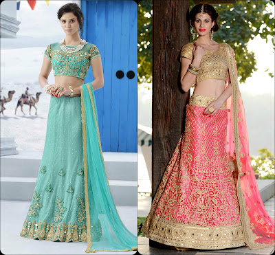 Embellishments on Lehenga Choli, Lehenga Choli, Lehenga from India
