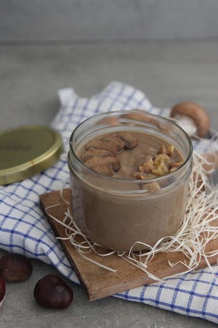 Cuillère et saladier : Velouté châtaignes et champignons