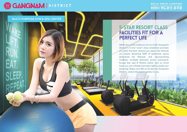 gym and fitness centre at gangnam district bekasi