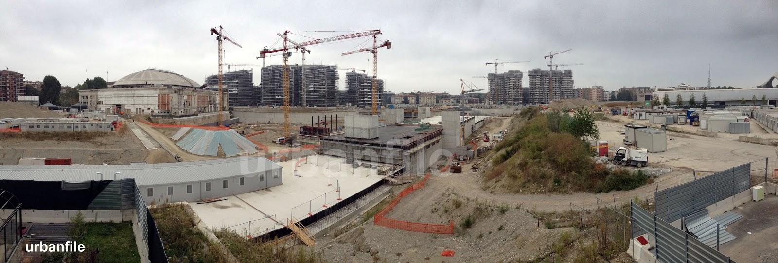 Urbanfile  Milano Visita al cantiere di CityLife 14 ottobre 2012