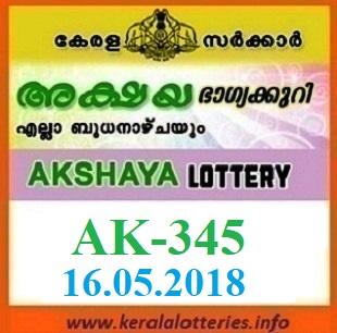 AKSHAYA AK-345 LOTTERY RESULT