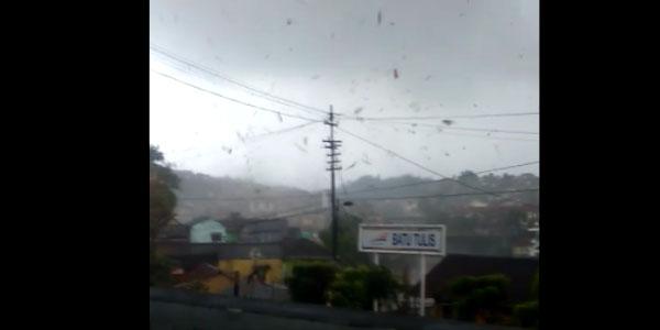 6 Desember 2018: Angin Puting Beliung di Batu Tulis dan Cipaku Bogor