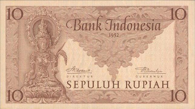 10 rupiah 1952 depan