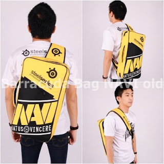 Gaming Bag - Tas Barracuda V5 5in1 - Navi Yellow Logo