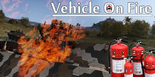 車両が即爆発することなく燃えるArma 3用Vehicle on Fire MOD