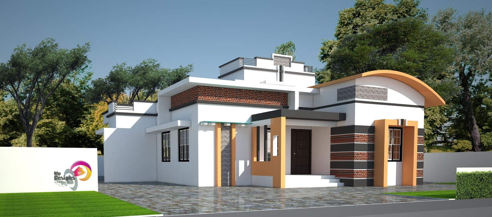 4BHK contemporary Style Home Design of 1738 Sqft