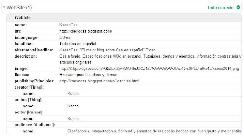 captura datos schema website
