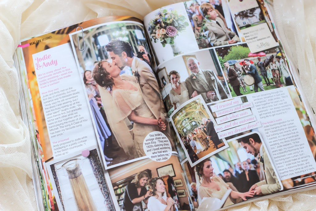 A Handmade Cottage Wedding ideas magazine feature