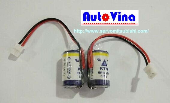 Tổng đại lý Pin nguồn, bán Battery Pin KTS ER14250 3.6V dùng cho PLC Delta các dòng DVP-SC, DVP-SX, DVP-EH, nuôi nguồn bộ nhớ, chạy thời gian thực
