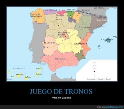 Juego de Tronos, Mapa de España, Francisco Javier Tapia, KnowMadrid
