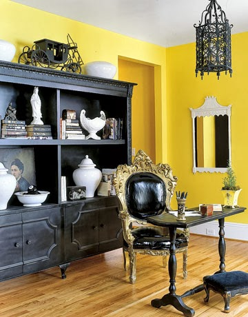 Oficina paredes amarillas