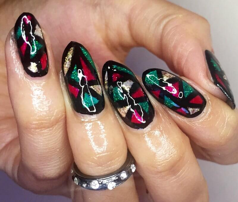 Truly Madly Beauty: NOTD - Stained Glass Nails