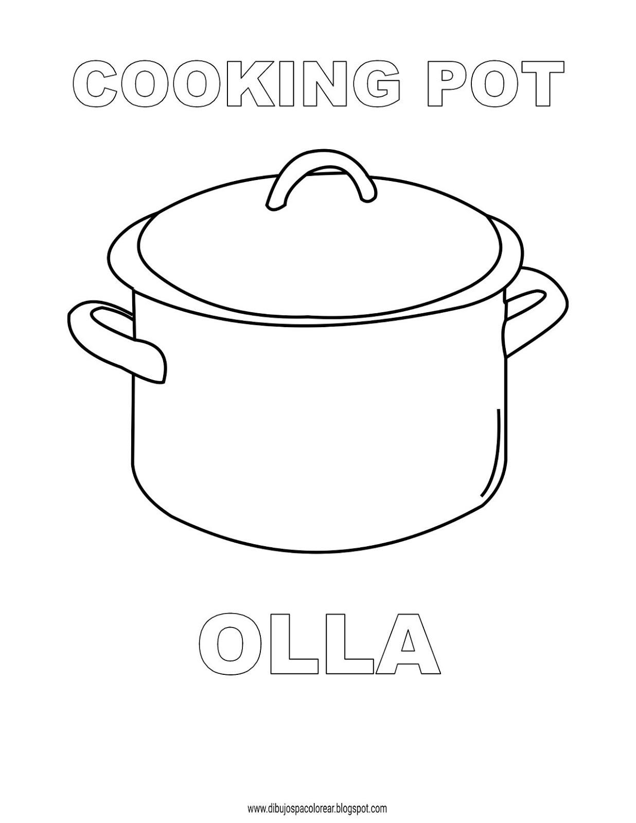 Dibujos Inglés Español Con O Olla Cooking Pot