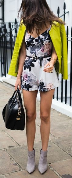 fitted playsuit street style