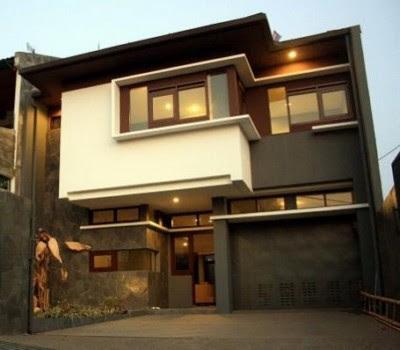 Tampak Depan Rumah Minimalis 2 Lantai futuristik
