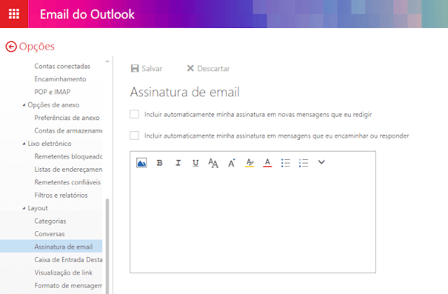 assinatura outlook.com