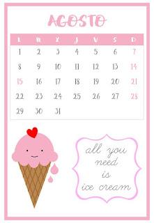 Calendario agosto vertical