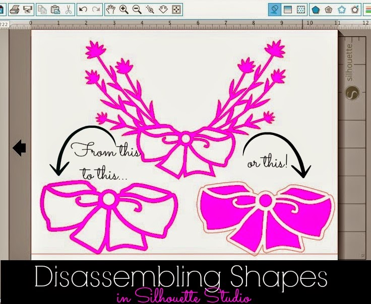 Disassembling, Silhouette shapes, design, Silhouette Studio
