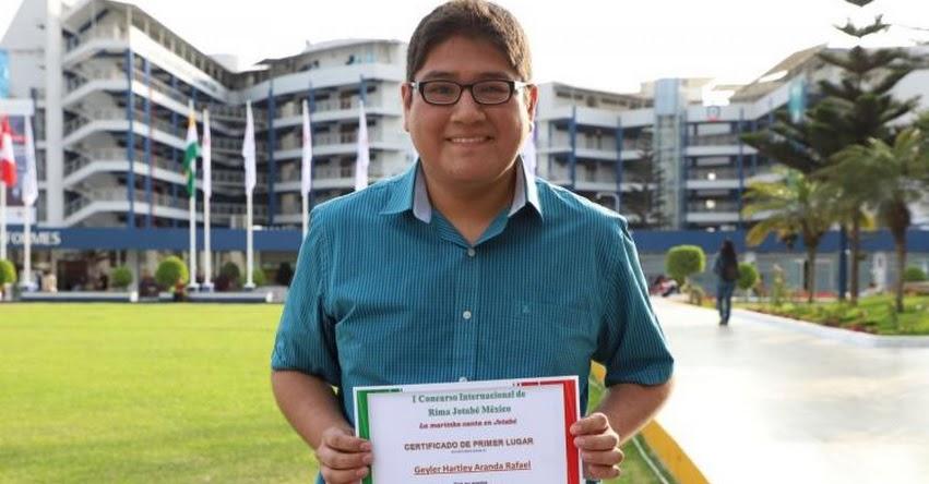 GEYLER ARANDA: Joven peruano gana concurso internacional de poesía en México