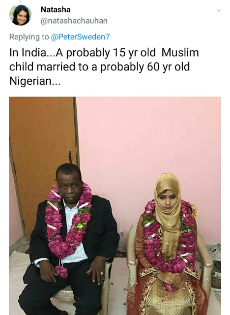 15-year-old Indian girl married off to an old Nigerian man...(photos)